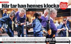 First spread of Swedish newspaper Aftonbladet's photo essay on Bob Arno.