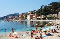 A beach in the south of France.