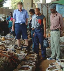 A tour of the muti market, where witchdoctors sell traditional medicine.