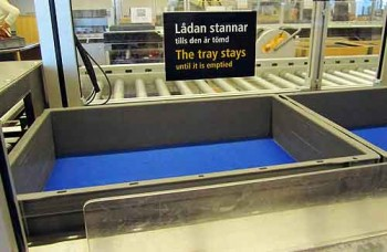 Airport security conveyor, Arlanda airport, Stockholm