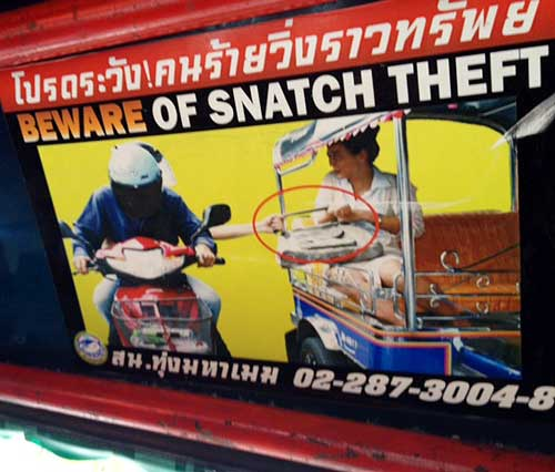 Bangkok theft from tuk-tuk