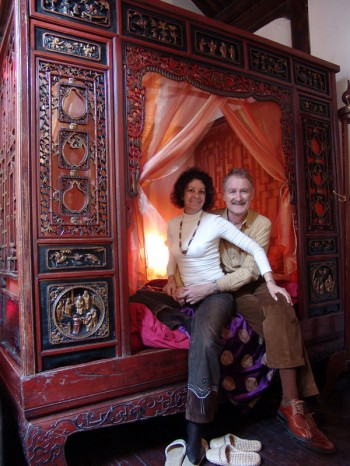 Bambi and Bob in the East Concubine Suite.