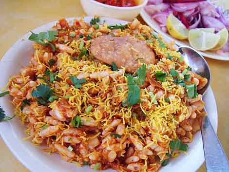 Bhel puri at Kailash Parbat