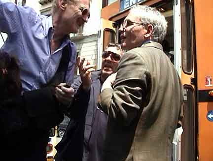 Bob Arno tries to convince Nuncio and Tony to talk.