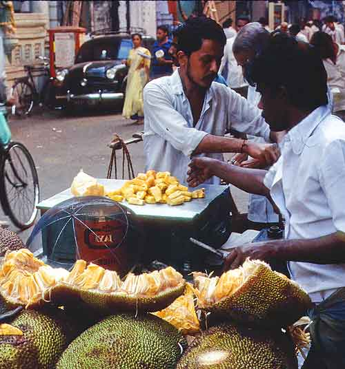 Jackfruit for sale in Bombay, 1989