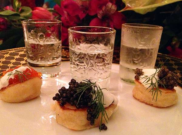 Vodka and caviar in Russia: Three caviar varieties, three kinds of vodka