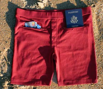 Clever Travel Companions men's pickpocket-proof underwear