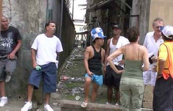 Muggers in Colon, Panama: When we find these gangsters, they appear to be defending their turf.