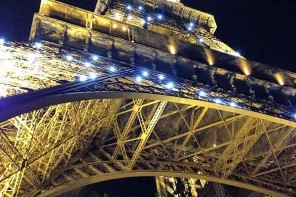 Eiffel Tower pickpockets. Gone at night. No crowds, no pickpockets, no entry.