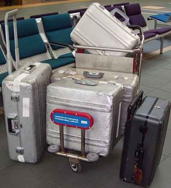 Halliburtons for luggage security; hotel safe theft