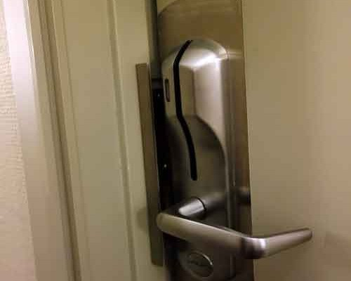 Mercure hotel room door left unlocked all day by housekeeping.