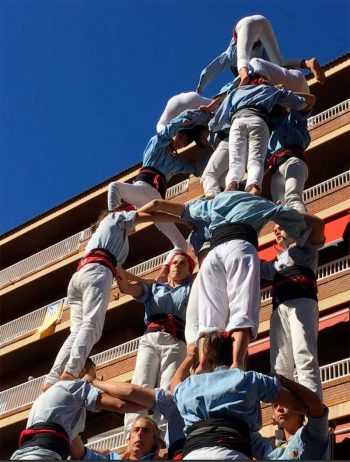 Castellers, the human towers