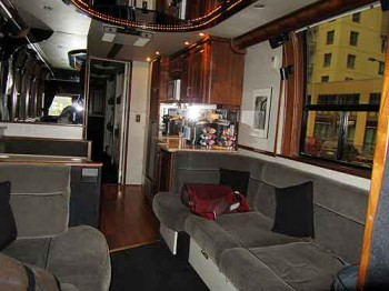 Inside the Just For Laughs tour bus