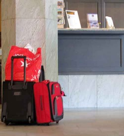 Lobby luggage theft