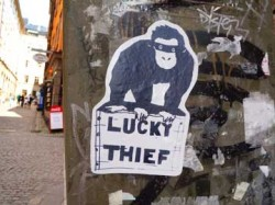 Graffiti in Stockholm: Lucky Thief proved to be an artist collective.