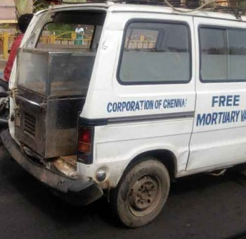 Free mortuary van in Chennai, India