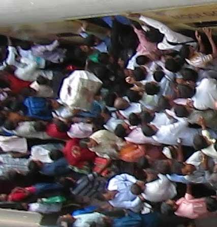 Mumbai train platform