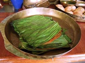 Mysore paanki, steamed between banana leaves, is peel-and-eat spiciness.