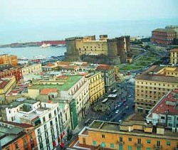 Port and commercial district of Naples