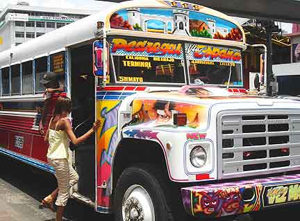 Buses in Panama are privately owned and serious works of art.