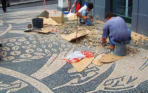 The mosaic sidewalks of Portugal