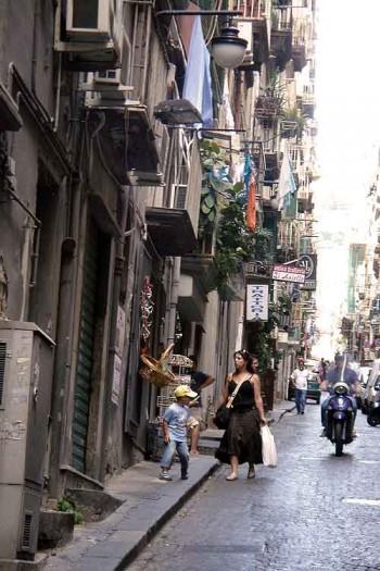 Rolex thief: A street in Quartieri Spagnoli, Naples, Italy.