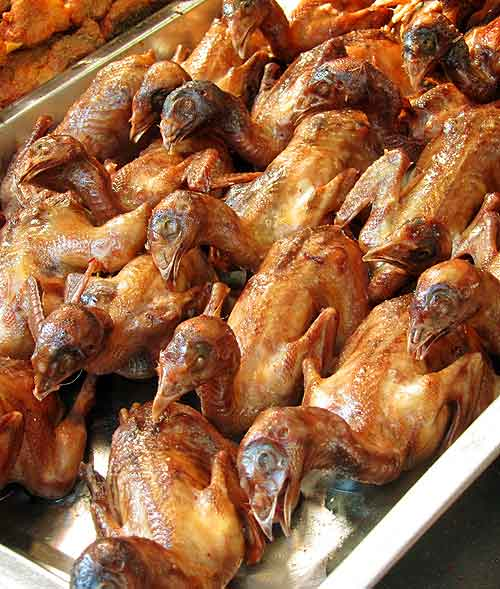 Beijing street food: Roast birds