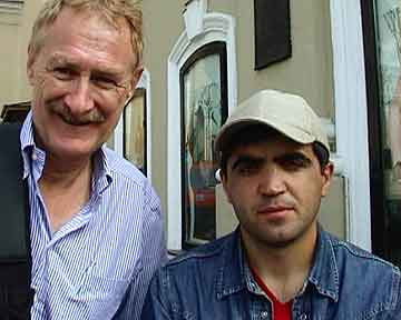 Bob Arno and translator Mohammed