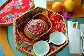Shangri-La tea at the Shangri-La Hotel, Singapore.