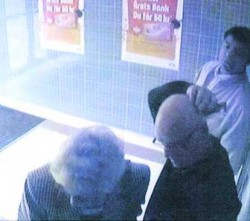 A shoulder-surfer in Stockholm gets seniors' PIN, then steals their ATM card.