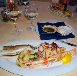 Fresh, simply-cooked bounty of Slovenian seafood.