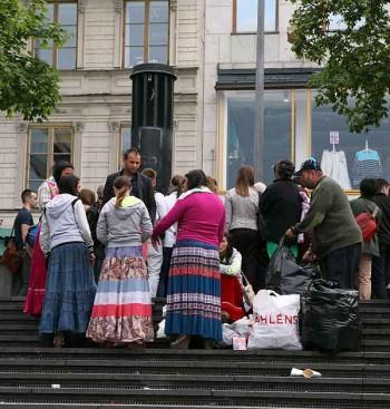Beggars in Stockholm