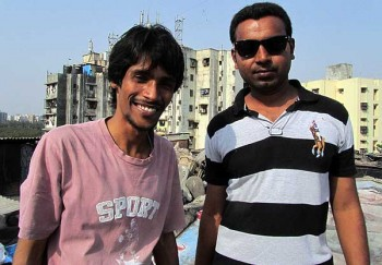 In a Mumbai slum: Tauseef and Shanu